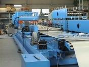 Компания сдала заказчику систему автоматического управления линией по изготовлению металлочерепицы Монтерей г. Санкт-Петербург.